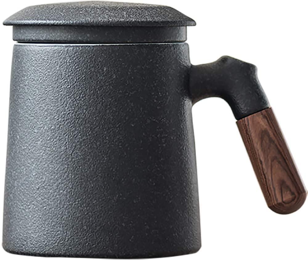 Sandalwood handle Tea Mug, Chinese Ceramic Tea Cup
